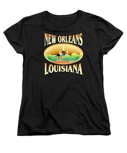 New Orleans Louisiana Tshirt Design Women's T-Shirt (Standard Cut) by Art America Gallery Peter Potter