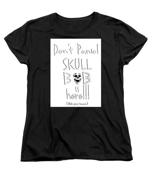 Skull Bob Women's T-Shirt (Standard Cut) by Phil Koch