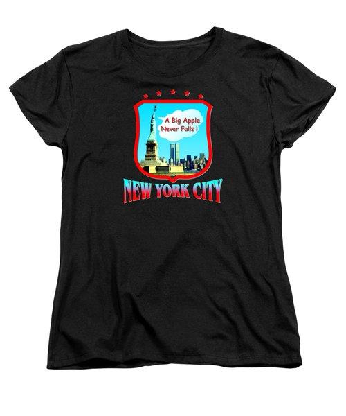 New York City Big Apple - Tshirt Design Women's T-Shirt (Standard Cut) by Art America Gallery Peter Potter