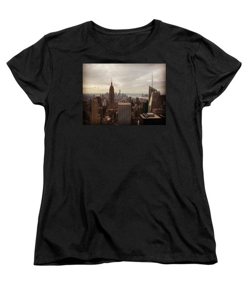 New York City Skyline Women's T-Shirt (Standard Cut) by Lush Life Travel