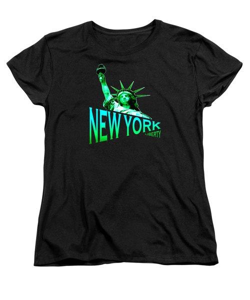 New York Liberty Tshirt Design Women's T-Shirt (Standard Cut) by Art America Gallery Peter Potter