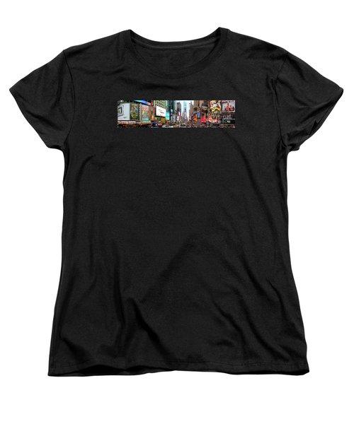 New York Times Square Panorama Women's T-Shirt (Standard Cut) by Kasia Bitner