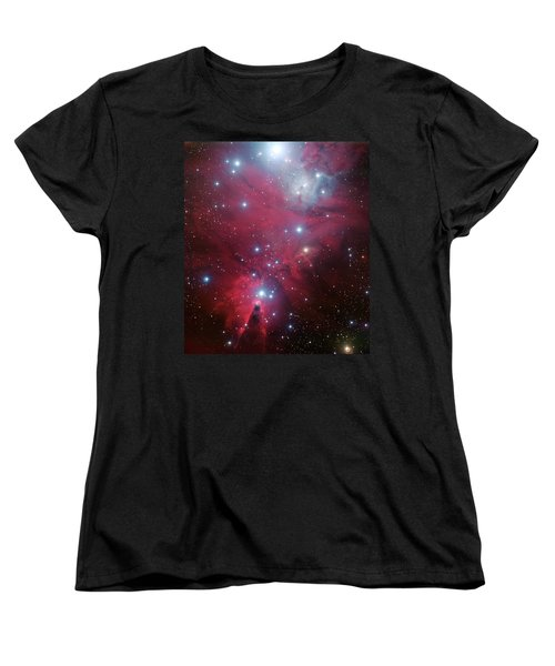 Women's T-Shirt (Standard Cut) featuring the photograph Ngc 2264 And The Christmas Tree Star Cluster by Eso