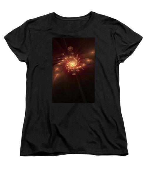Night Bloom Women's T-Shirt (Standard Cut) by Svetlana Nikolova
