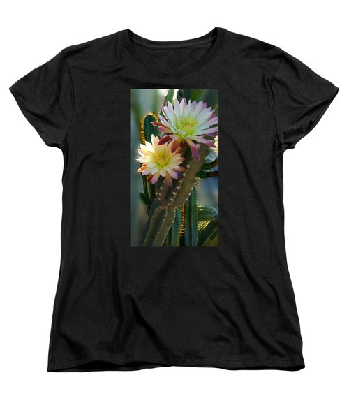 Women's T-Shirt (Standard Cut) featuring the photograph Night-blooming Cereus 4 by Marilyn Smith