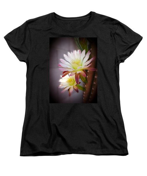Women's T-Shirt (Standard Cut) featuring the photograph Night Blooming Cereus by Marilyn Smith