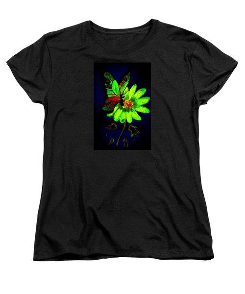 Night Glow Women's T-Shirt (Standard Cut) by Maria Urso