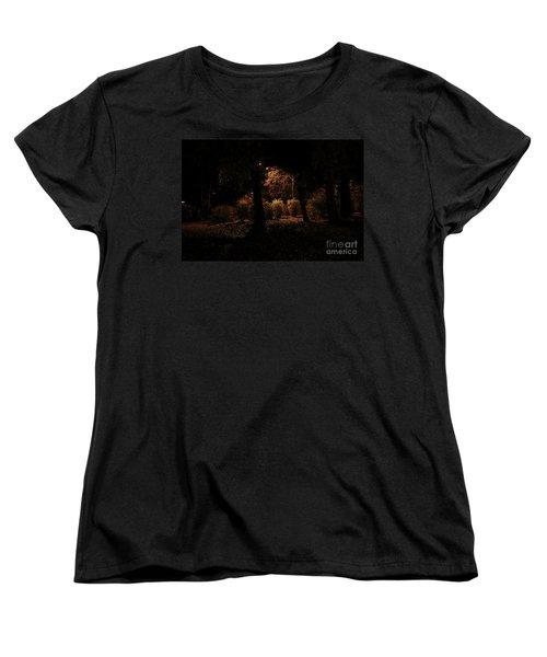 Night In The Park  Women's T-Shirt (Standard Cut) by Ana Mireles