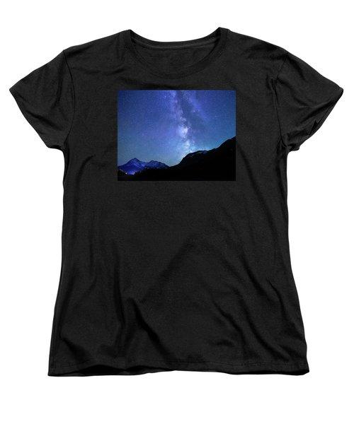 Women's T-Shirt (Standard Cut) featuring the photograph Night Sky In David Thomson Country by Dan Jurak