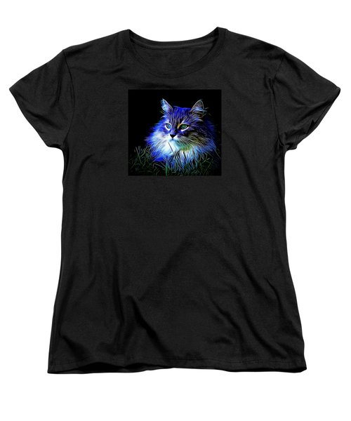 Women's T-Shirt (Standard Cut) featuring the photograph Night Stalker by Kathy Kelly
