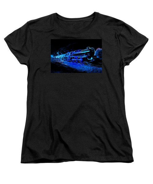 Women's T-Shirt (Standard Cut) featuring the photograph Night Train To Romance by Aaron Berg