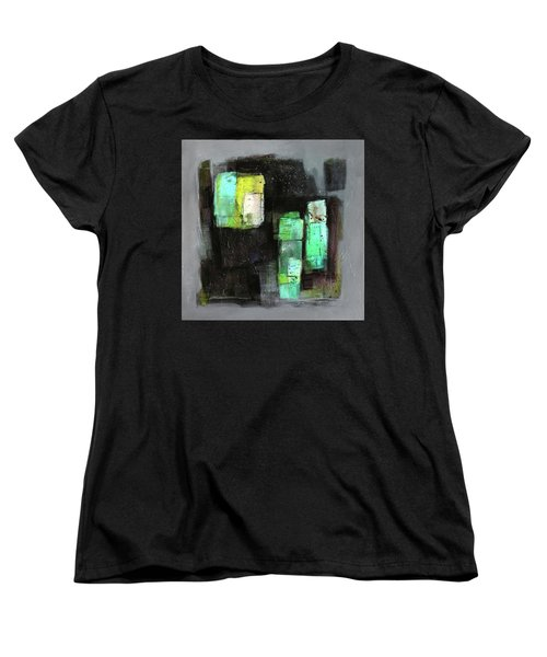 Texture Of Night Painting Women's T-Shirt (Standard Cut) by Behzad Sohrabi