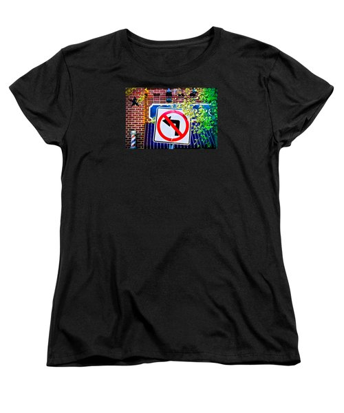 Women's T-Shirt (Standard Cut) featuring the photograph No Left Turn by Colleen Kammerer