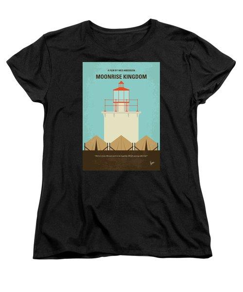 Women's T-Shirt (Standard Cut) featuring the digital art No760 My Moonrise Kingdom Minimal Movie Poster by Chungkong Art