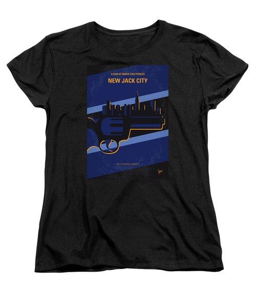 Women's T-Shirt (Standard Cut) featuring the digital art No762 My New Jack City Minimal Movie Poster by Chungkong Art