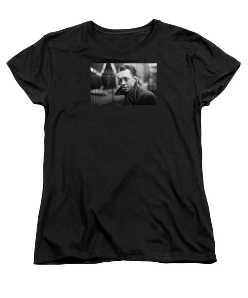 Nobel Prize Winning Writer Albert Camus  Unknown Date-2015           Women's T-Shirt (Standard Cut) by David Lee Guss