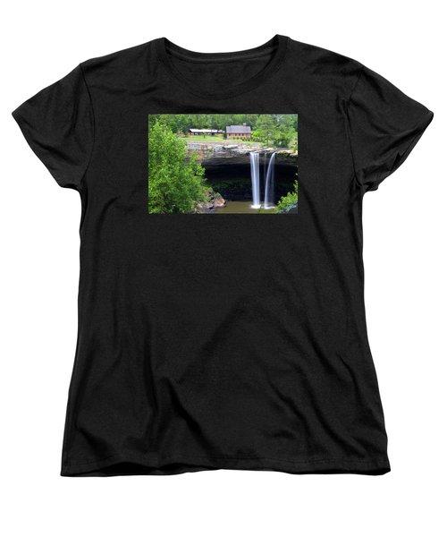 Noccolula Falls Gadsden Alabama Women's T-Shirt (Standard Cut) by Kathy Clark