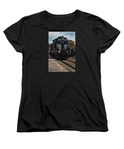 Conway Scenic Railroad - New Hampshire Women's T-Shirt (Standard Cut) by Suzanne Gaff