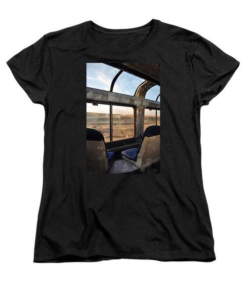 North Dakota Great Plains Observation Deck Women's T-Shirt (Standard Cut) by Kyle Hanson
