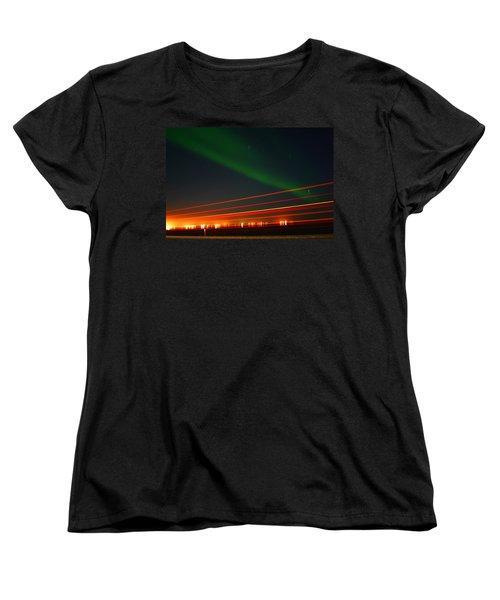 Northern Lights Women's T-Shirt (Standard Cut) by Anthony Jones