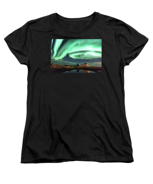 Women's T-Shirt (Standard Cut) featuring the photograph Northern Lights by Frodi Brinks