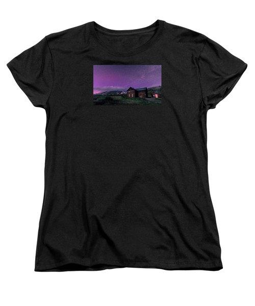Northern Lights On Boreas Pass Women's T-Shirt (Standard Cut) by Michael J Bauer