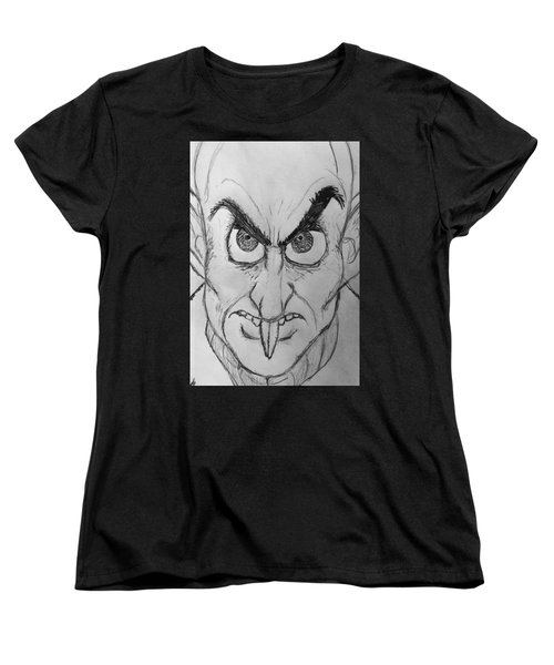 Nosferatu Women's T-Shirt (Standard Cut) by Yshua The Painter