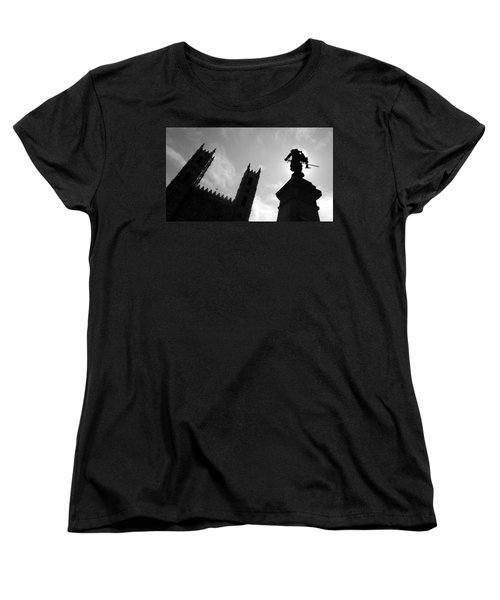 Women's T-Shirt (Standard Cut) featuring the photograph Notre Dame Silhouette by Valentino Visentini