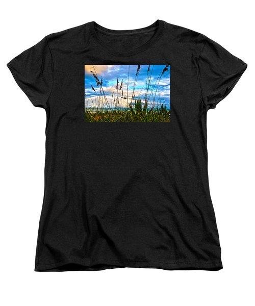 November Day At The Beach In Florida Women's T-Shirt (Standard Cut)