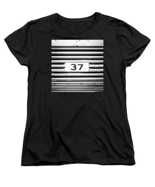 Number 37 Metal Square Women's T-Shirt (Standard Cut) by Terry DeLuco