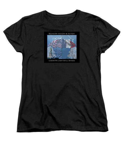 Ny And Paris - Usa And France Women's T-Shirt (Standard Cut) by Robert J Sadler