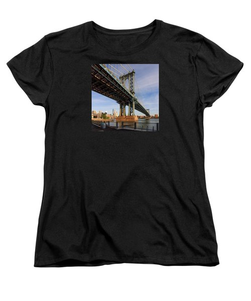Women's T-Shirt (Standard Cut) featuring the photograph Ny Steel by Anthony Fields