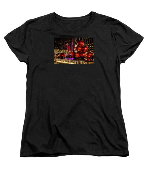Women's T-Shirt (Standard Cut) featuring the photograph Nyc Holiday Balls by Chris Lord
