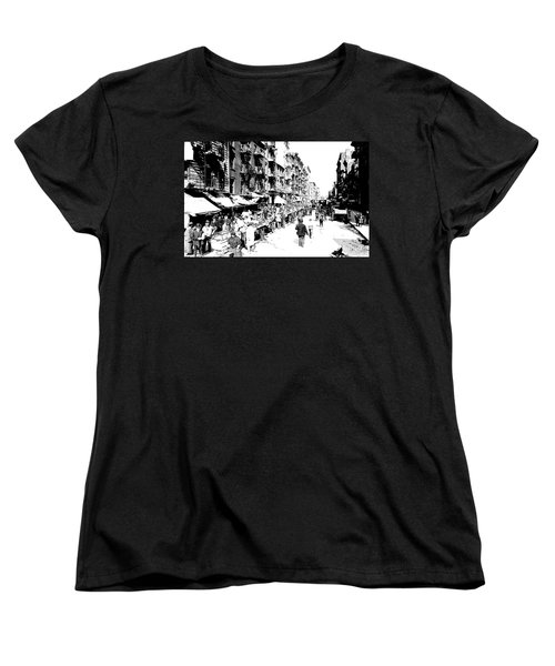 Nyc Lower East Side - 1902 -market Day Women's T-Shirt (Standard Cut) by Merton Allen