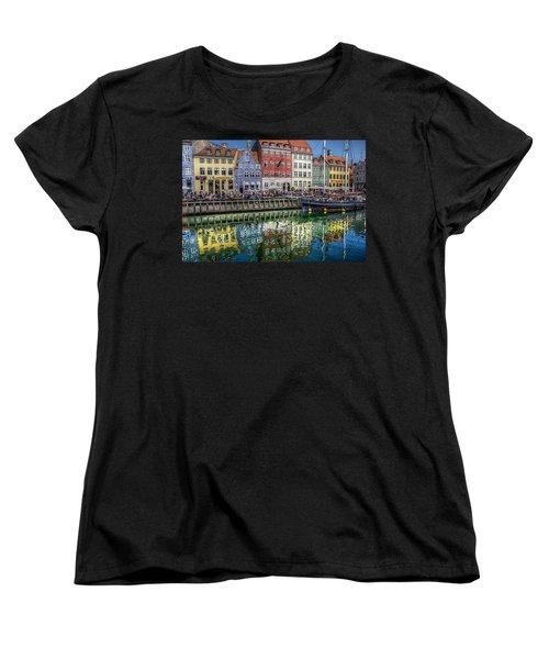 Nyhavn Harbor Area, Copenhagen Women's T-Shirt (Standard Cut) by Karen McKenzie McAdoo