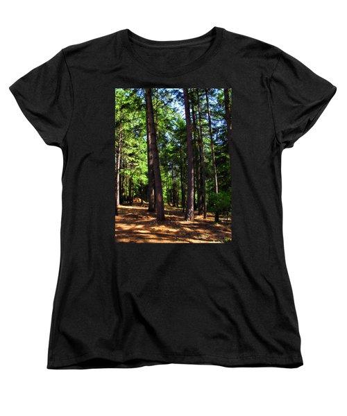 Oakrun Forest Women's T-Shirt (Standard Cut) by Joyce Dickens