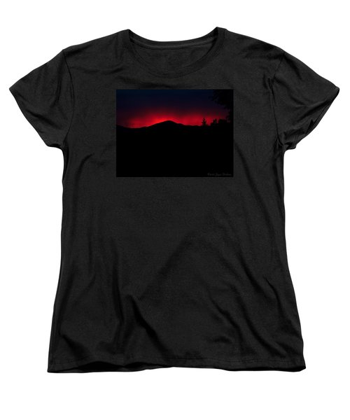 Oakrun Sunset 06 09 15 Women's T-Shirt (Standard Cut) by Joyce Dickens