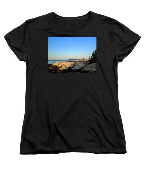 Women's T-Shirt (Standard Cut) featuring the photograph Ocean Point by Lois Lepisto