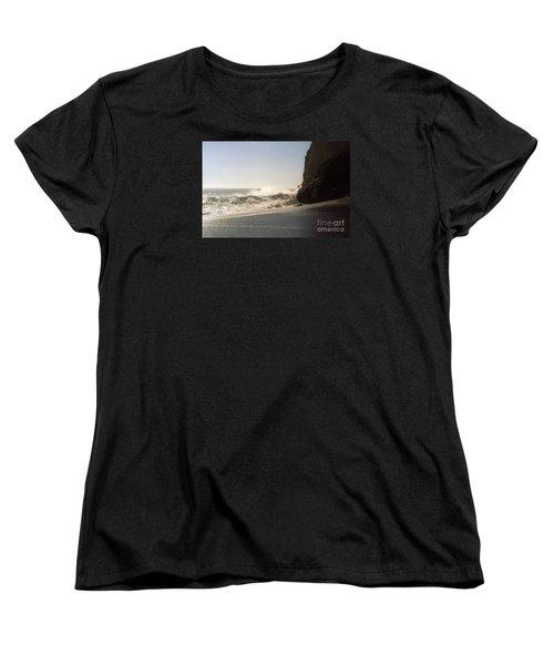 Ocean Rock Beach Headlands Women's T-Shirt (Standard Cut) by Ted Pollard
