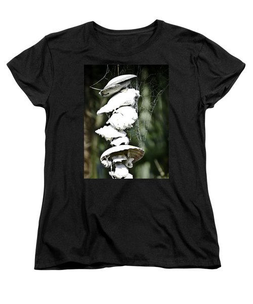 Women's T-Shirt (Standard Cut) featuring the photograph Ocean Shells Composition by Yurix Sardinelly