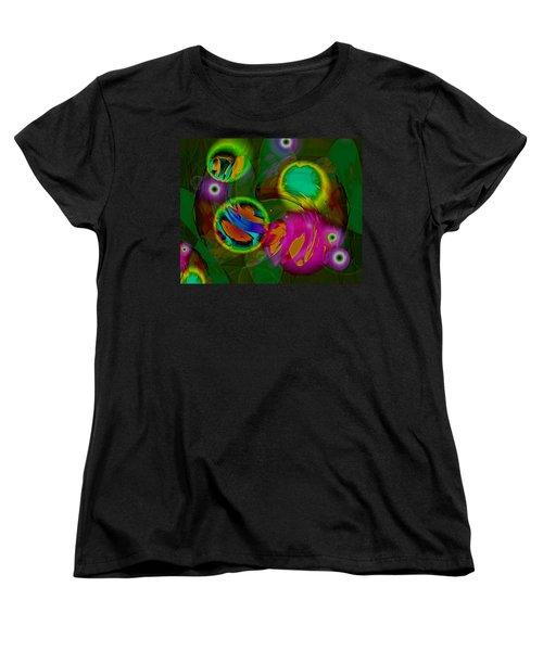 Women's T-Shirt (Standard Cut) featuring the digital art Ocean Storm by Lynda Lehmann