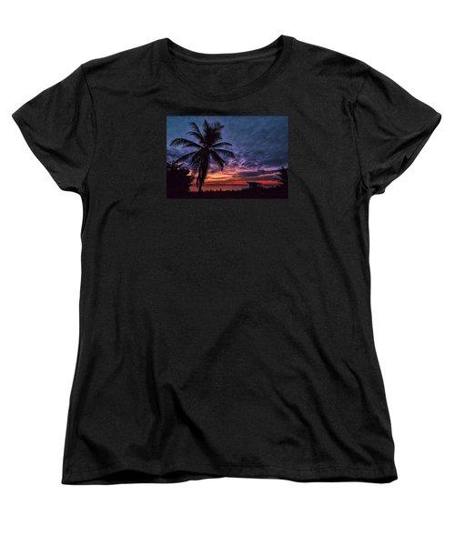 Women's T-Shirt (Standard Cut) featuring the photograph Oceanfront Before Sunrise by Don Durfee