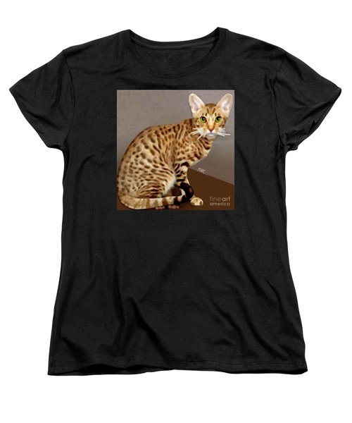 Ocicat Women's T-Shirt (Standard Cut) by Marian Cates