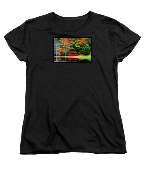 Women's T-Shirt (Standard Cut) featuring the photograph October Afternoon In The Blue Ridge Mountains by Susanne Still