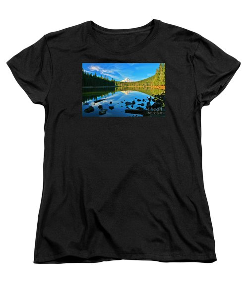 October On The Lake Women's T-Shirt (Standard Cut) by Sheila Ping