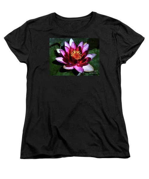 Women's T-Shirt (Standard Cut) featuring the photograph Ode To The Water Lily by Polly Peacock