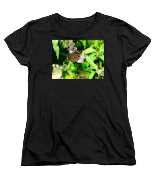 Women's T-Shirt (Standard Cut) featuring the photograph Ohio Buckeye by EricaMaxine  Price