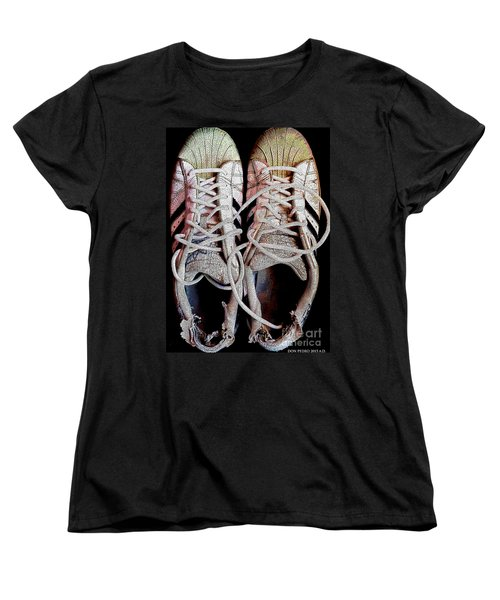 Women's T-Shirt (Standard Cut) featuring the photograph Old Adidas Supestar II by Don Pedro De Gracia