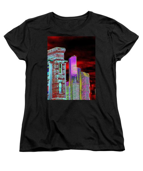 Old And New Seattle Women's T-Shirt (Standard Cut) by Tim Allen
