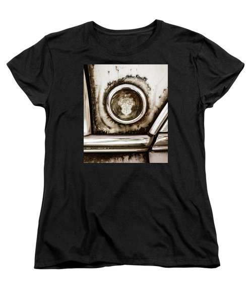 Women's T-Shirt (Standard Cut) featuring the photograph Old And Worn Packard Emblem by Marilyn Hunt